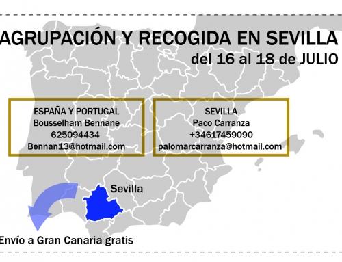 AGRUPACIÓN Y RECOGIDA DE PALOMAS DE ESPAÑA Y PORTUGAL PARA EL CHALLENGE EN SEVILLA, DEL 16 AL 18 JULIO